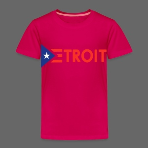 Detroit Puerto Rican Flag - Toddler Premium T-Shirt