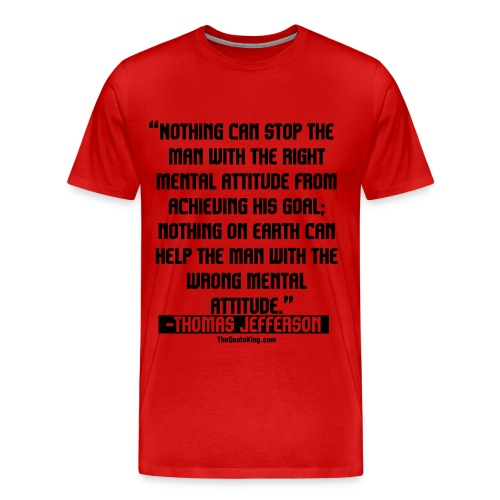 Thomas Jefferson on Success - Men's Premium T-Shirt