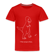Baby & Toddler Shirts ~ Toddler Premium T-Shirt ~ T-Rex Flossing White Design (Toddler)