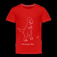 Baby & Toddler Shirts ~ Toddler Premium T-Shirt ~ T-Rex Flossing White Design (Toddler)