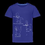 Baby & Toddler Shirts ~ Toddler Premium T-Shirt ~ T-Rex Ukulele White Design (Toddler)