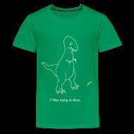 Kids' Shirts ~ Kids' Premium T-Shirt ~ T-Rex Flossing White Design (Kids)