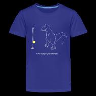 Kids' Shirts ~ Kids' Premium T-Shirt ~ T-Rex Tetherball White Design (Kids)