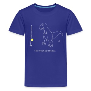 T-Rex Tetherball White Design (Kids) - Kids' Premium T-Shirt