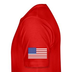 Springer 46 T-shirt - Established 2002, name/number, Chicago flag, USA flag - Men's Premium T-Shirt