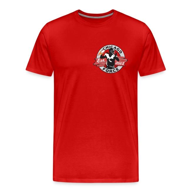 Malloy 29 T-shirt - Established 2002, name/number, Chicago flag, USA flag