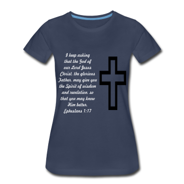 scripture_and_cross_ephesians Women's T-Shirts