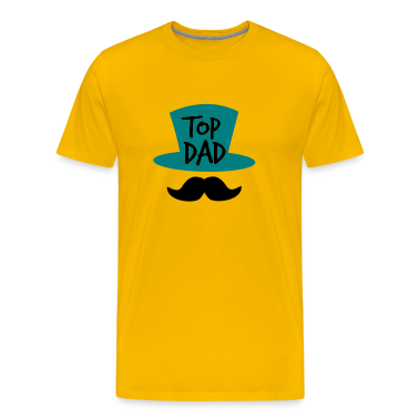 TOP DAD with top hat and moustache T-Shirts