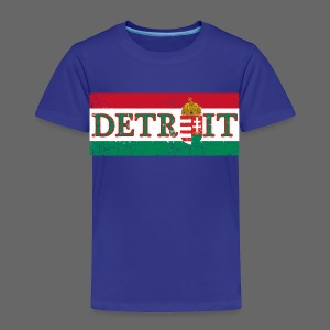 Detroit Hungarian Flag - Toddler Premium T-Shirt