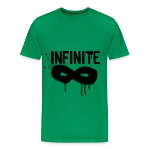 INFINITE- Graffiti Logo Men's Plus Tee - Men's Premium T-Shirt