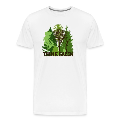 eco bag t-shirt Earth Day Think Green forest trees wilderness mother nature - Men's Premium T-Shirt