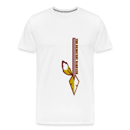 T-Shirts ~ Men's Premium T-Shirt ~ Mens Plus Size Burgundy Warpath Tee