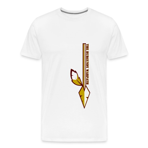 Mens Plus Size Burgundy Warpath Tee - Men's Premium T-Shirt