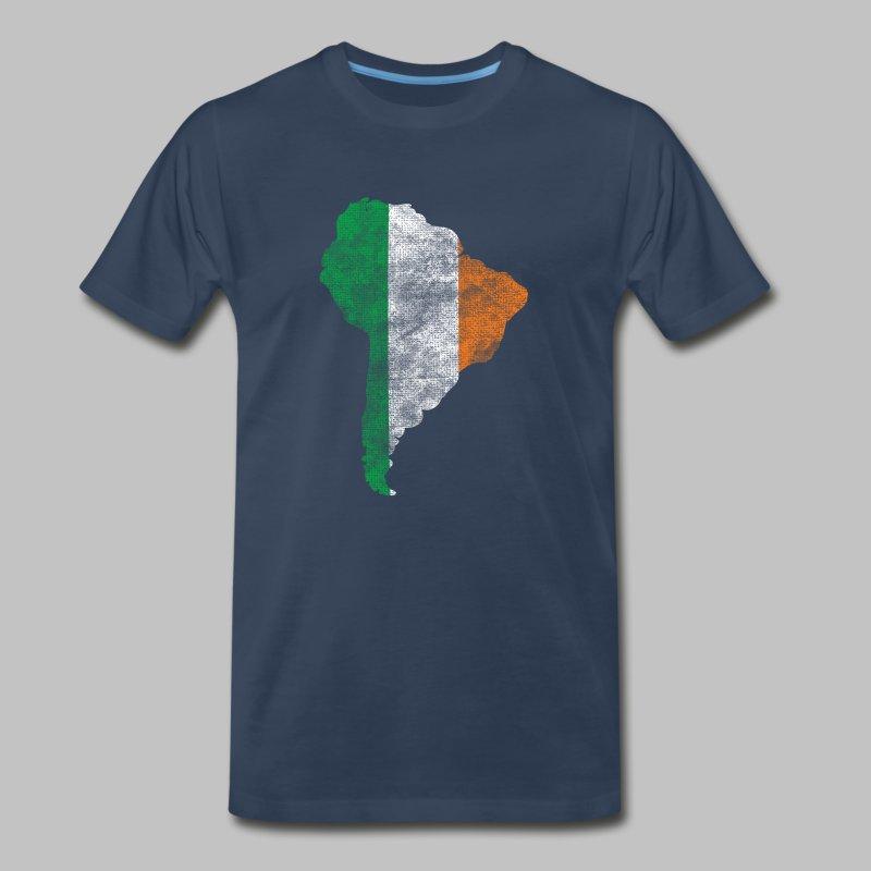 South American Irish Flag - Men's Premium T-Shirt