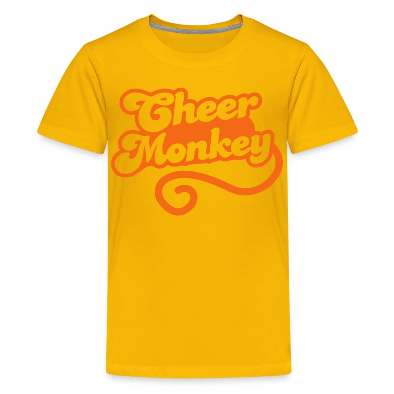 Cheer monkey with a tail cheerleader shirt design t Cheerleading t shirt designs