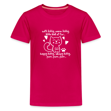 soft kitty, warm kitty, little ball of fur... Kids' Shirts