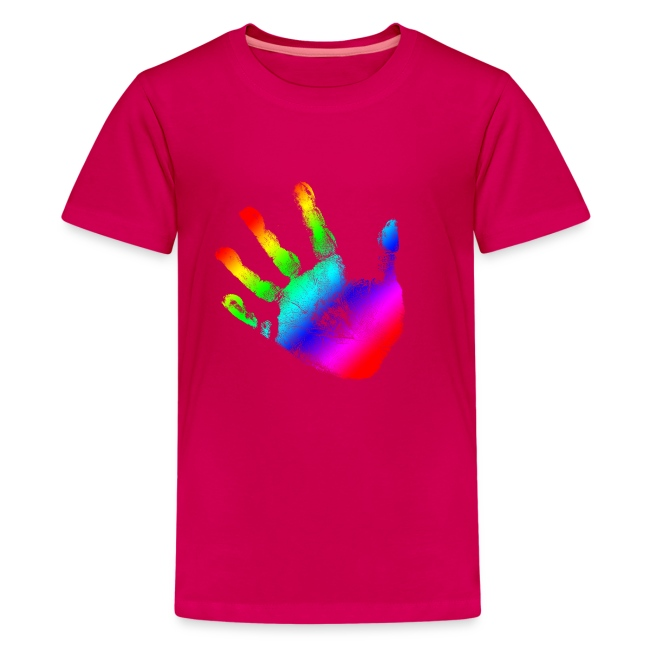 hand print rainbow graphic design picture handprint