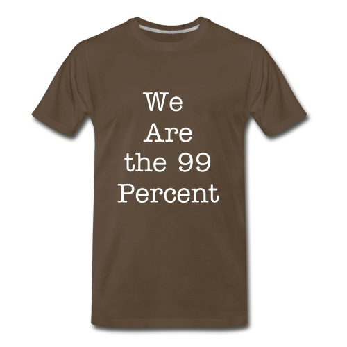 We are the 99 percent (Front)/ Let Our Children Go (Back) - Men's Premium T-Shirt
