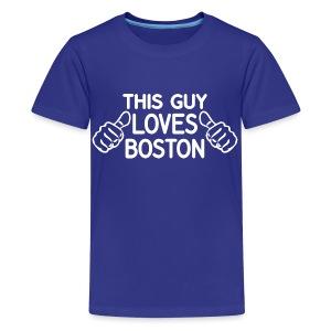 This Guy Loves Boston - Kids' Premium T-Shirt