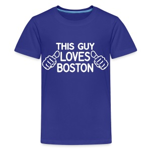 This Guy Loves Boston - Kids' Premium T-Shirt