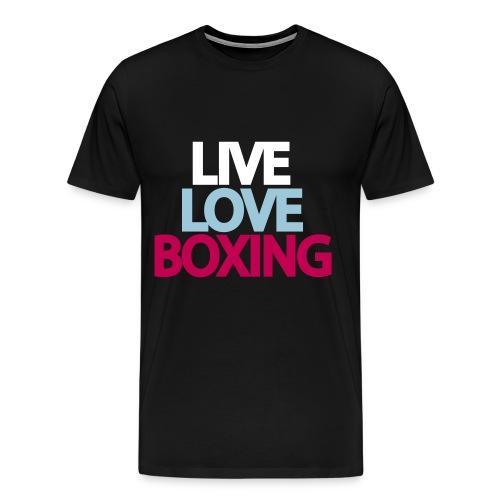 Live, Love, Boxing - Men's Premium T-Shirt