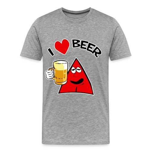 I Love Beer Big Guy - Men's Premium T-Shirt