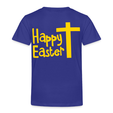 Happy EASTER with a Christian cross Toddler Shirts