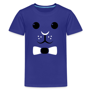 simple easter rabbit face with a bow so cute! Kids' Shirts