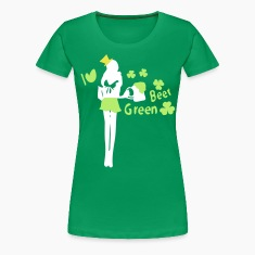 I heart green beer shamrock st.patty's day Women's Plus Size Basic T-Shirt