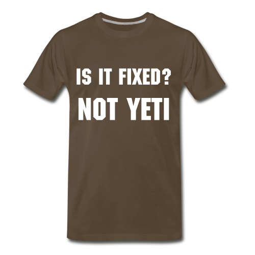 NOT YETI - Big Mens - Men's Premium T-Shirt