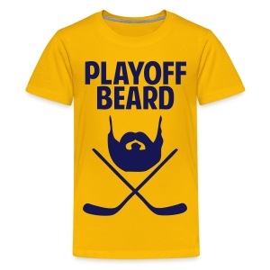 Hockey Playoff Beard Shirt - Kids' Premium T-Shirt