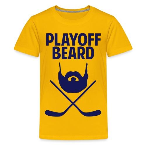 Hockey Playoff Beard Shirt - Kids' Premium T-Shirt