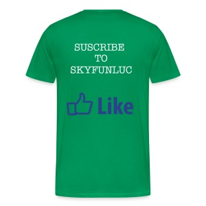 Like And Suscribe Skyfunluc - Men's Premium T-Shirt