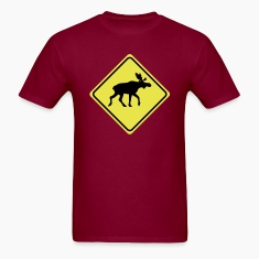 warning sign elk moose 2col T-Shirts