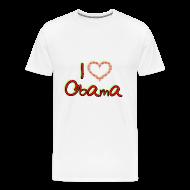 T-Shirts ~ Men's Premium T-Shirt ~ I Love OBAMA Mens Shirt