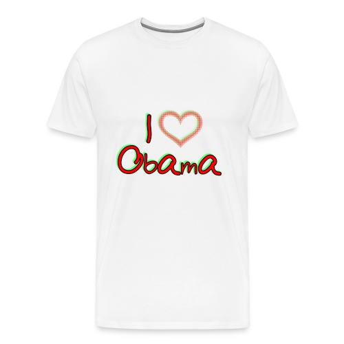 I Love OBAMA Mens Shirt - Men's Premium T-Shirt