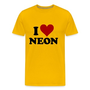I Love Neon - Men's Premium T-Shirt
