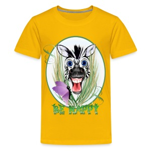 Be Happy Oval - Kids' Premium T-Shirt