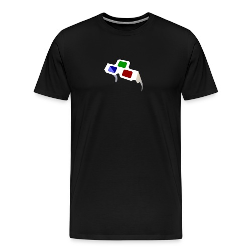 4D Glasses Mini-Logo - Men's Premium T-Shirt