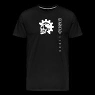 T-Shirts ~ Men's Premium T-Shirt ~ Skull chest & text sideways