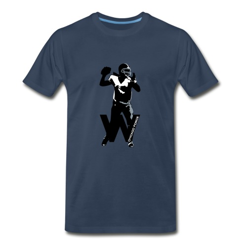 T-shirt - QB, W, Flag - Men's Premium T-Shirt