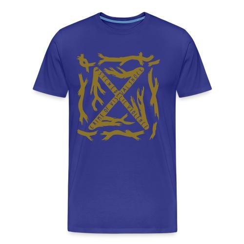 [M] Gold Blue Blood - Men's Premium T-Shirt