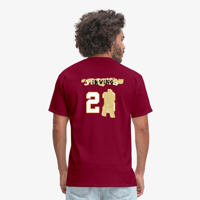 info for 8f925 e61cd Kyrie Irving Tape-Over LeBron James Shirt (With Front) | Men's T-Shirt