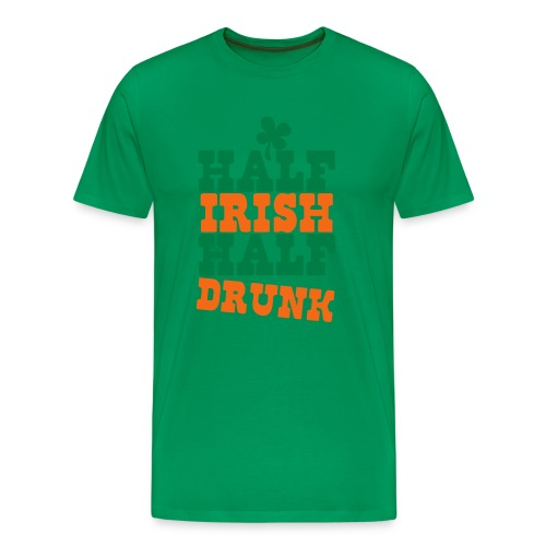 Half Irish Half drunk (Men's) - Men's Premium T-Shirt