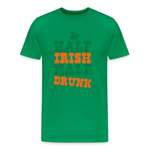 Half Irish Half drunk (Men's) - Men's Premium T-Shirt