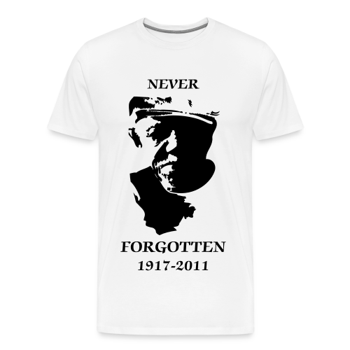 NEVER FORGOTTEN (branco) - Men's Premium T-Shirt