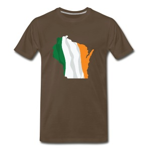 Wisconsin Irish Flag - Men's Premium T-Shirt