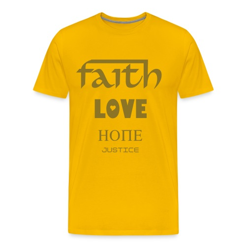 Faith-Love-Hope-Justice MEN´S SHIRT - Men's Premium T-Shirt