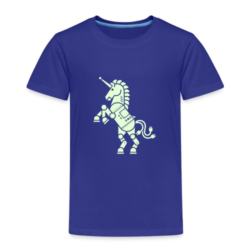 Robicorn Glow in the Dark - Pick a shirt color! - Toddler Premium T-Shirt