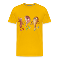 T-Shirts ~ Men's Premium T-Shirt ~ Happy to Meat You! Men's T-Shirt